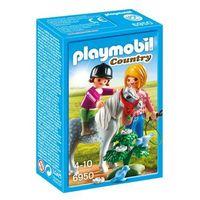 Klocki dla dzieci, Playmobil COUNTRY Spacer z kucykiem 6950