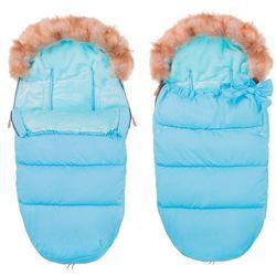 Błękitny śpiworek z futerkiem