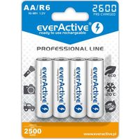 "Akumulatorki, 4x everActive R6/AA Ni-MH 2600 mAh ready to use ""Professional line"""