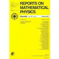 Matematyka, Reports on Mathematical Physics 54/1 wer.eksp. (opr. miękka)