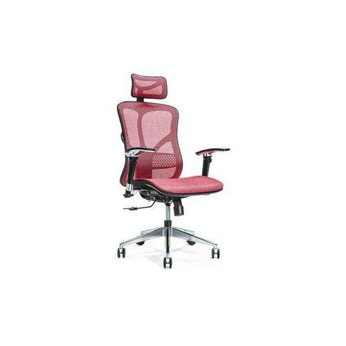 Fotele i krzesła biurowe, Ergonomiczny fotel biurowy ERGO 500 czerwony
