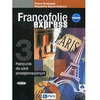 Książki do nauki języka, Francofolie express 3 Podręcznik + CD - Magdalena Supryn-Klepcarz, Boutegege Regine (opr. miękka)