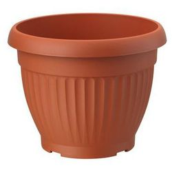 Doniczka plastikowa 17 cm terrakota DONA FORM-PLASTIC