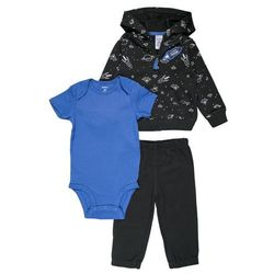 Carter's CARDIGAN BOY SPACE PRINT BABY SET Body gray