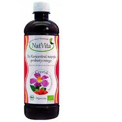 Koncentrat napoju probiotycznego CZYSTEK i skórka dzikiej róży BIO PROBIOTYK 500ml NatVita