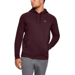 Under Armour Bluza z kapturem RIVAL FLEECE PO HOODIE Bordowa - Bordowy
