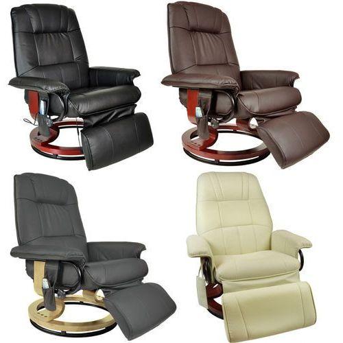 Fotele masujące, FOTEL MASUJĄCY WYPOCZYNKOWY Z MASAŻEM + OGRZEWANIE - Beżowy 404005 (-13%)