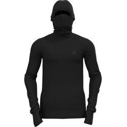 Odlo Active Warm Plus Top with Facemask L/S Men, czarny L 2021 Koszulki bazowe termiczne i narciarskie