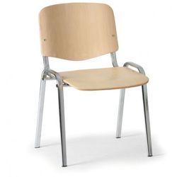 Drewniane krzesło ISO, buk, kolor konstrucji chrom, nośność 120 kg