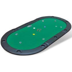 vidaXL Składany blat do stołu pokerowego dla 10 graczy, zielony Darmowa wysyłka i zwroty