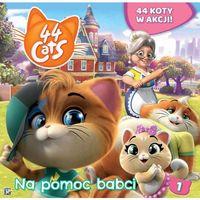 Książki dla dzieci, 44 koty Książka story 1 Na pomoc babci (opr. broszurowa)