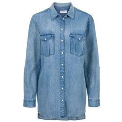 Długa koszula dżinsowa, długi rękaw bonprix jasnoniebieski