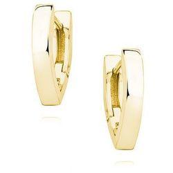 Eleganckie pozłacane srebrne gładkie klasyczne kolczyki litera V srebro 925 S0090E_G