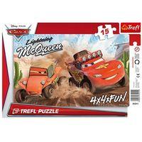 Puzzle, Puzzle TREFL Ramkowe Auta Wyścig Na Pustyni 31211 (15 elementów)