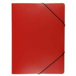 Teczka plastikowa z gumką wąska tg-02 biurfol czerwona