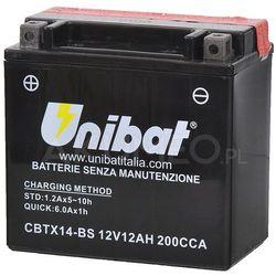 Akumulator UNIBAT AGM CBTX14-BS 12V 12Ah 200A lewy+