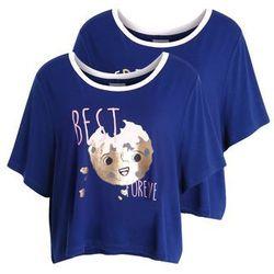 Chelsea Peers BFF BEST FRIENDS COOKIE 2 PACK Koszulka do spania navy