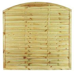 Płot lamelowy z łukiem 180x180 cm drewniany STELMET