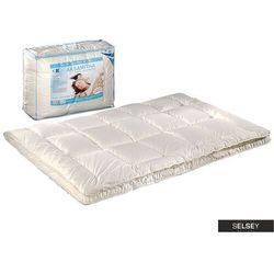 SELSEY Kołdra Aksamitna Duo z poduszkami 40x40 cm kremowa