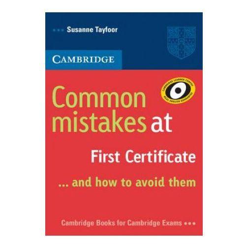 Książki do nauki języka, Cambridge Common Mistakes At First Certificate (opr. miękka)