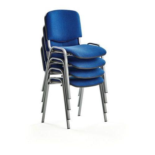 Fotele i krzesła biurowe, Krzesło konferencyjne NELSON, 4 szt., tkanina, niebieski, szary