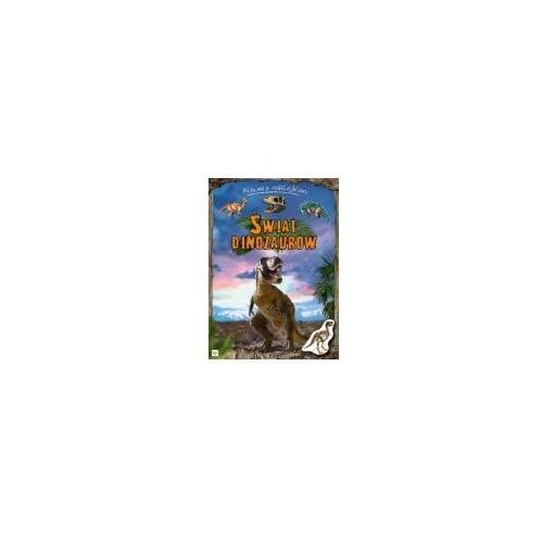 Książki dla dzieci, Świat dinozaurów Album z naklejkami (opr. broszurowa)