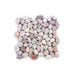 Mozaika z naturalnych kamieni ozdobnych Garth na siatce beżowa 1 m2