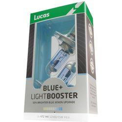 Lucas żarówki samochodowe LightBooster H4 12V 60/55W +50% Blue 2 sztuki - BEZPŁATNY ODBIÓR: WROCŁAW!