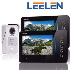 Leelen LEELEN Wideodomofon 7cali 2xN60/No15nc+3xbrelok (z czytnikiem) 2xN60_No15nc - Autoryzowany partner Leelen, Automatyczne rabaty.
