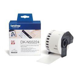 Brother etykiety nieprzylepne (ciągłe) 54 mm. x 30,48 m. DK-N55224, DKN55224