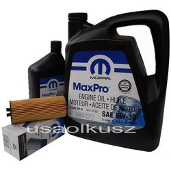 Olej MOPAR 5W30 oraz oryginalny filtr Dodge Journey 3,6 V6 -2013