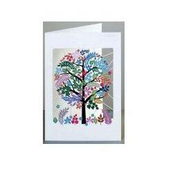 Karnet kolorowe drzewo pm908 wycinany + koperta
