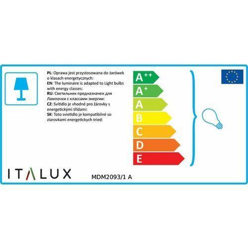 Lampy sufitowe, Lampa wisząca Italux Valio MDM2093/1 A zwis żyrandol 1x60W E27 szkło dymione
