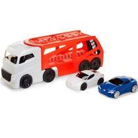 Pozostałe samochody i pojazdy dla dzieci, Duża naczepa Laweta + 2 auta