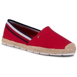 Espadryle TOMMY HILFIGER - Basic Tommy Corporate Espadrille FW0FW04738 Primary Red XLG