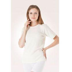 Koszulka UNISEX z wełny angory oraz wełny owczej - krótkie rękawy - czarna - CzSalus