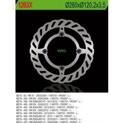 NG1263X TARCZA HAMULCOWA BETA 50/350/400/450/498/500 RR ENDURO (260X120,2X3,5) (4X8,5MM)