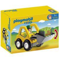 Klocki dla dzieci, Playmobil 1.2.3, Koparka, 6775, klocki