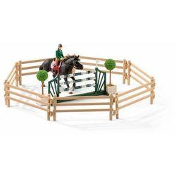 Zestaw figurek szkoła jeździecka+akcesoria+ konie