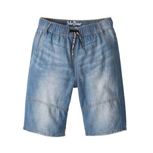 Krótkie spodenki dziecięce, Bermudy dżinsowe bonprix niebieski
