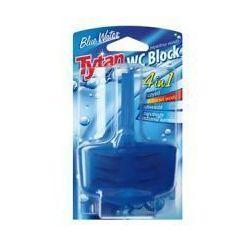 Tytan 4 w 1 Kostka do WC w koszyku Błękitna Woda 40 g