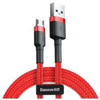 Smartbandy, Baseus Cafule | Kabel USB - Micro-USB dwustronny Quick Charge 2.4A 100cm - 100cm \ Czerwony