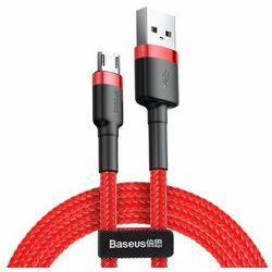 Baseus Cafule | Kabel USB - Micro-USB dwustronny Quick Charge 2.4A 100cm | czerwony - 100cm \ Czerwony