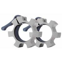 Pozostałe do siłowni, Olimpijski aluminiowy zacisk na gryf inSPORTline CL-21 50mm, Srebrny