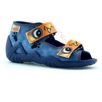 Obuwie domowe dziecięce, Kapcie dla dzieci Befado 250P056 Snake - Niebieski ||Pomarańczowy