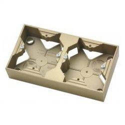 Puszka instalacyjna Ospel Impresja PNP-2Y/28 podwójna złoty metalik