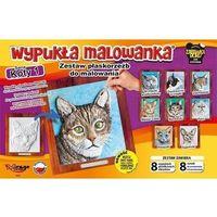 Kolorowanki, Wypukła malowanka - Koty Seria 1 Zestaw 8 wzorów