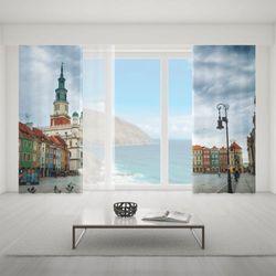 Zasłona okienna na wymiar komplet - POZNAN OLD MARKET