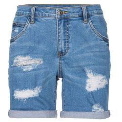 Szorty dżinsowe bonprix niebieski bleached