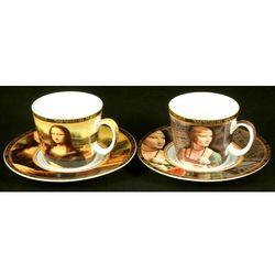 Kpl. 2 filiżanek mocca - L.Da Vinci - Mona Lisa/Dama z łasiczką